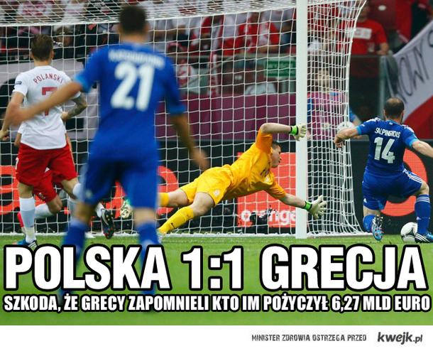 Polska - Grecja (1:1)... Grecy zapomnieli o długu!