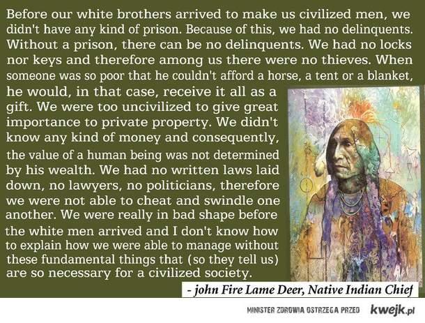 Cywilizowanie oczami rdzennego amerykanina