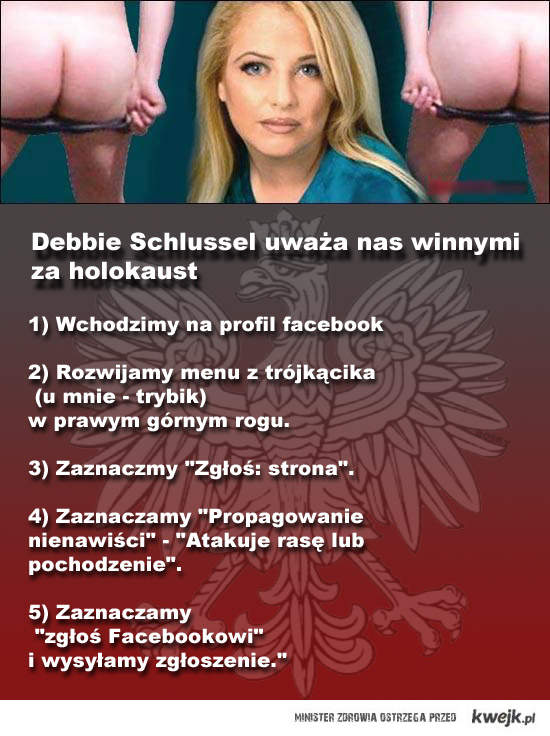 Debbie Schlussel - Polacy są winni ludobójstwa