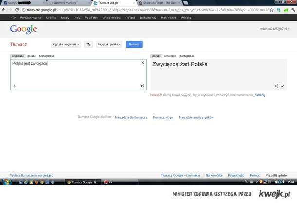 Nawet Google to wie