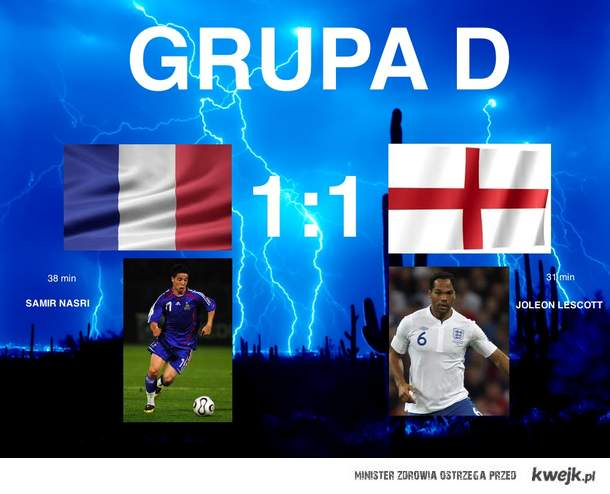 Francja vs Anglia