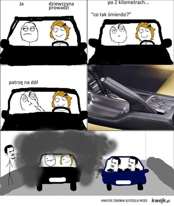 Gdy dziewczyna prowadzi