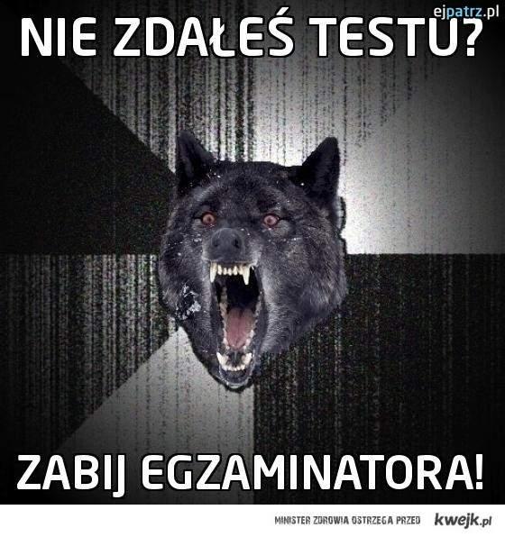Nie zdałeś testu?