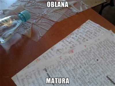 OBLANA MATURA