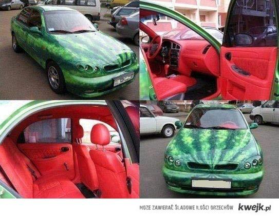 samochód arbuz