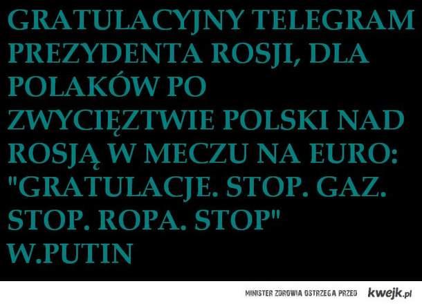 Telegram od Putina