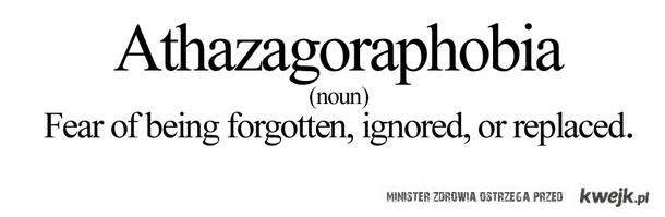 Athazegoraphobia