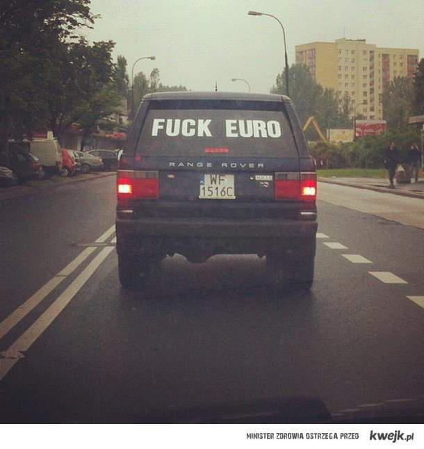 Nie wszyscy cieszą się z Euro