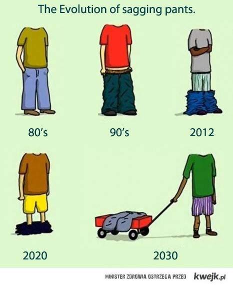 A spodnie coraz niżej
