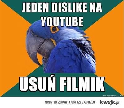 jeden minus na youtube