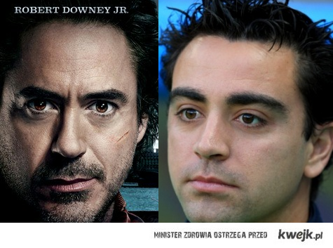 Robert Downey Jr. and Xavi Hernandez