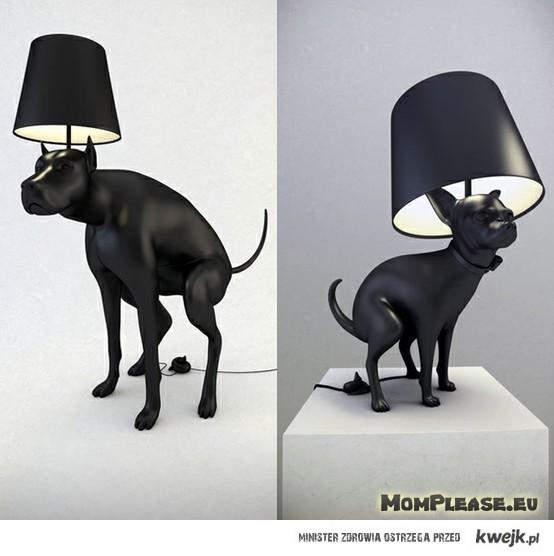 srająca lampa