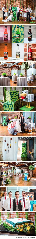 ślub w stylu Minecraft