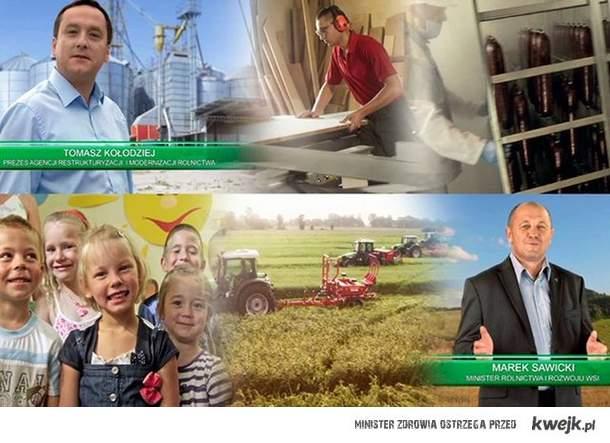 Lansik na Euro 2012. Na to płacimy podatki, by minister rolnictwa promował się za miliony złotych