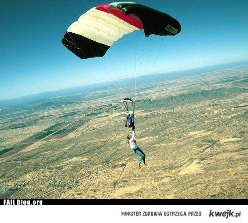 Skakanie ze spadochronem powinno być bezpieczniejsze