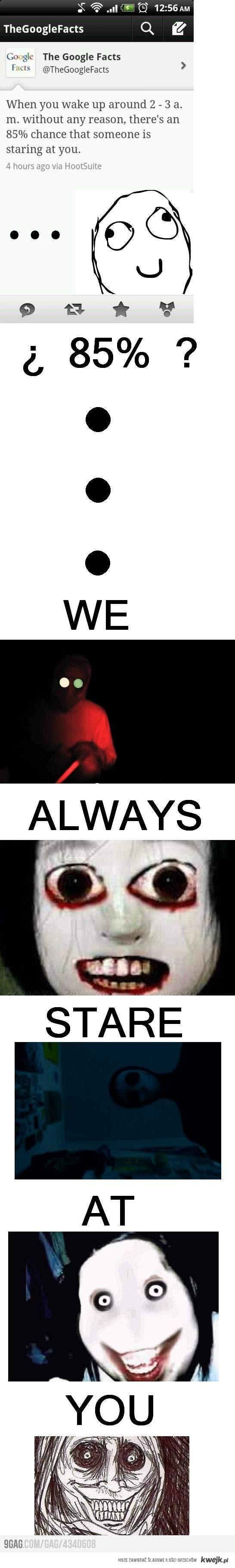 Zawsze na ciebie patrzymy...