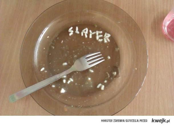 Slayer wszędzie ze mną nawet na obiedzie