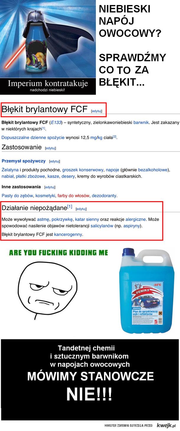 nie pij spryskiwaczy