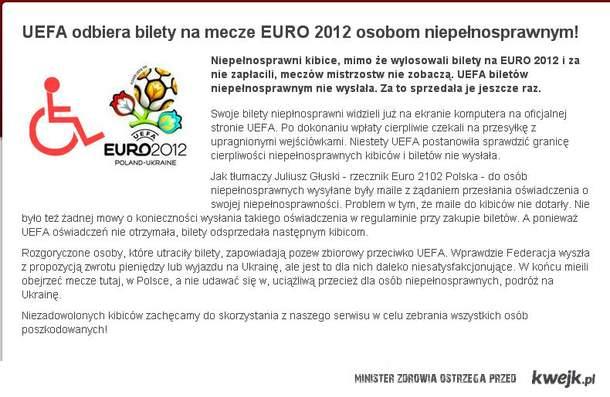 UEFA odebrała bilety osobom niepełnosprawnym...
