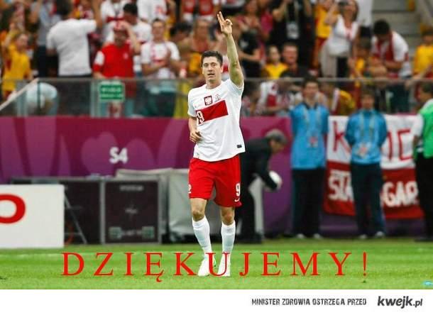 Dziekujemy Lewandowskiemu za pierwszego gola Euro 2012