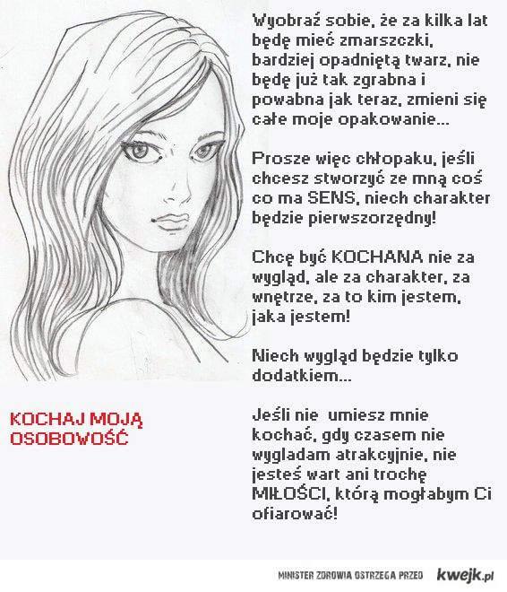 Kochaj osobowość kobiety