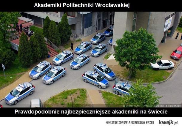 akademiki pwr wittiga teki policja