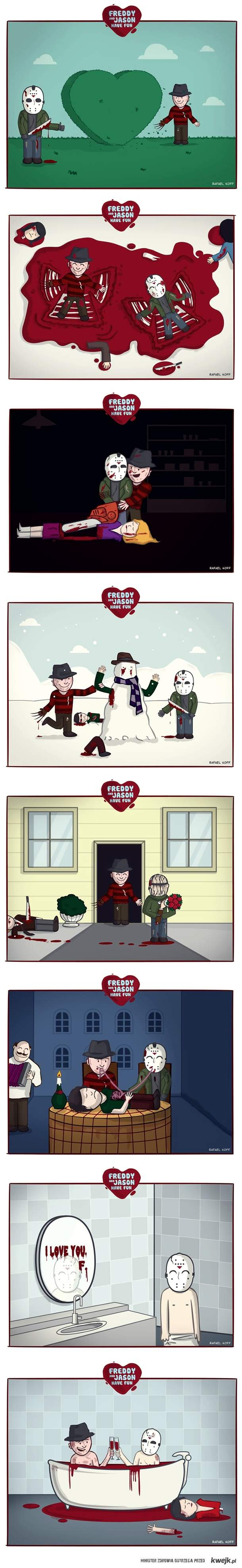 Freddy & Jason have fun :D