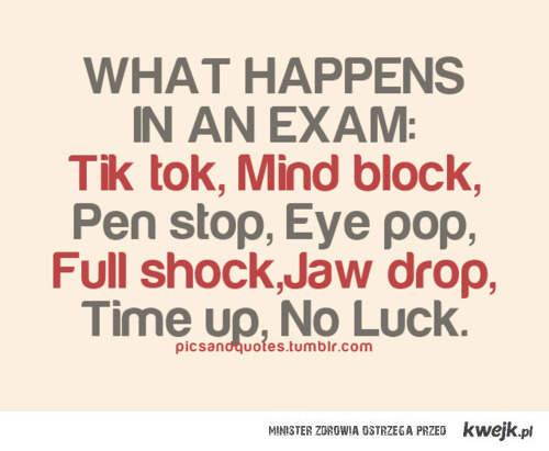 oto, co się dzieje na egzaminach