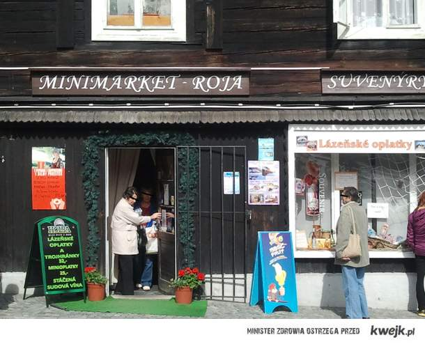 sklep Roja w Karlova Studanka(Czechy)
