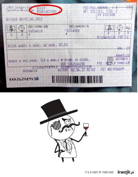 rewelacyjny bilet milordzie