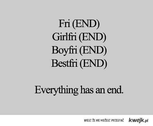 Wszystko ma swój koniec