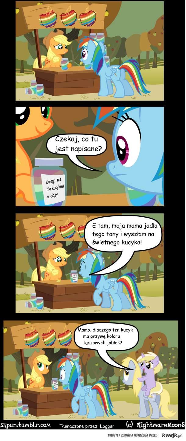 Rainbow i tęczowe jabłka