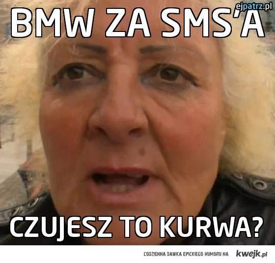 BMW za SMS'a