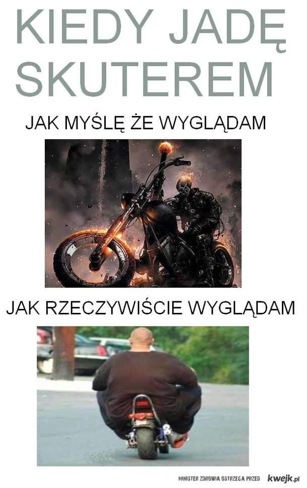 jadę skuterem