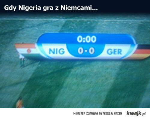Gdy Nigeria gra z Niemcami