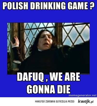 Polish drinking game