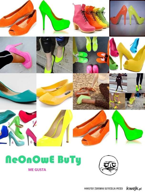 Neonowe Buty