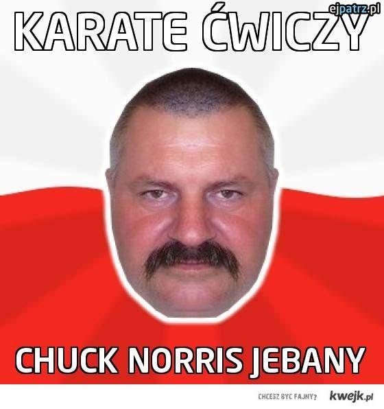 Karate ćwiczy