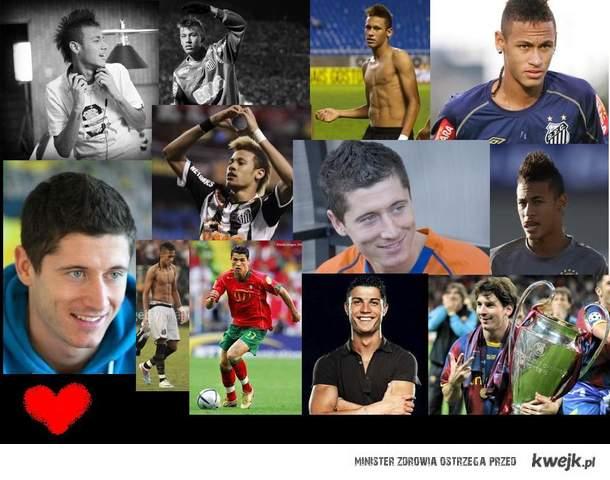 neymar, c.ronaldo, lewandowski, messi<3