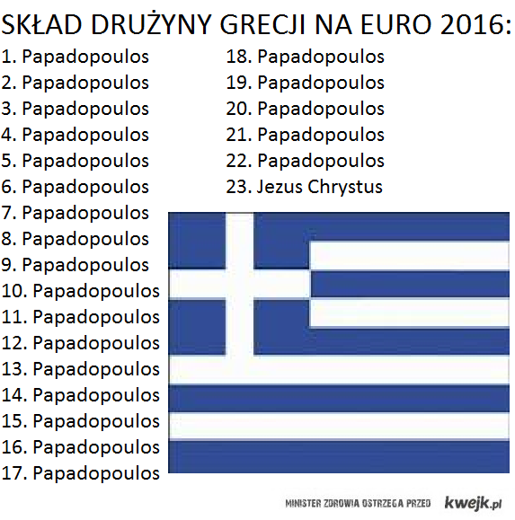 Drużyna Grecji