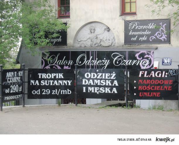 salon odzieży czarnej