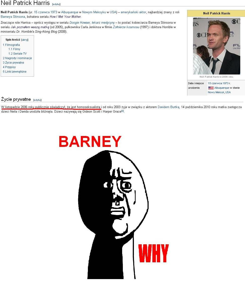 Barney why ?