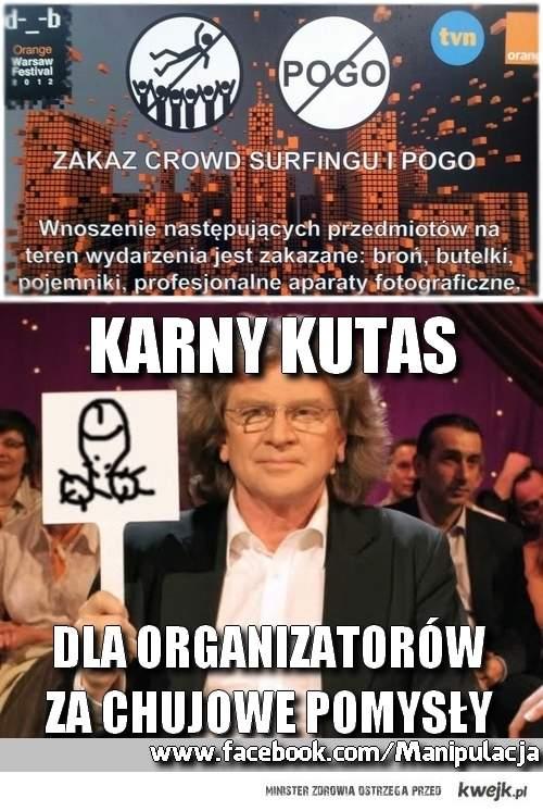 Zakaz pogo na Orange Warsaw