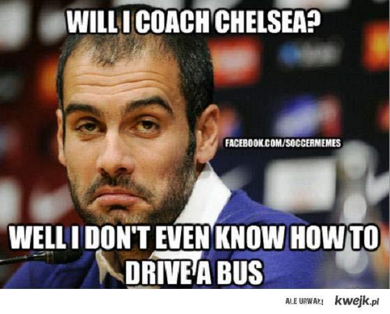 Guardiola nie potrafi prowadzić autobusu
