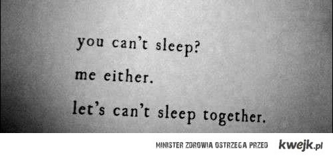 nie mogę spać