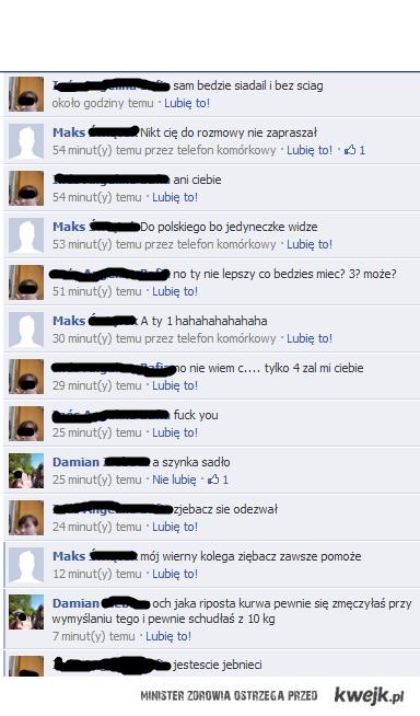 Rozmowa na facebook