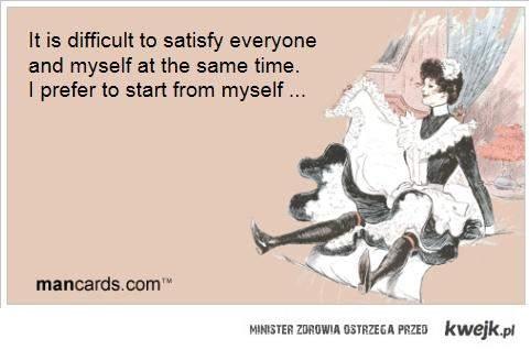 zadowalanie siebie