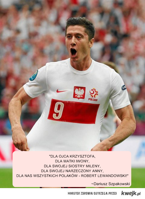 Cytyt D. Szpakowskiego po golu Lewego