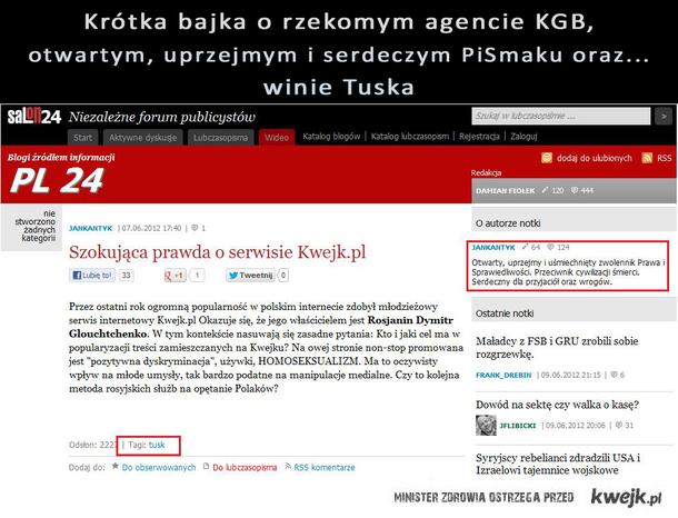 """""""Prawda"""" o Kwejk, KGB, i winie Tuska."""