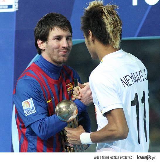Messi vvith Neymar